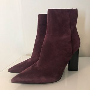 Kendall + Kylie Maroon Pointed Toe Bootie Size 9.5